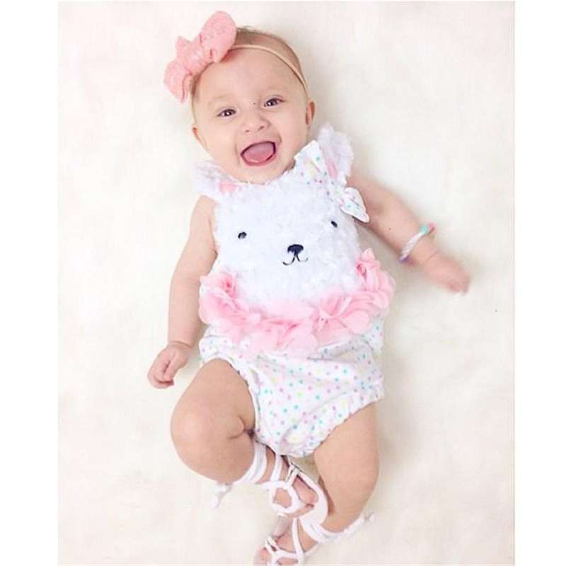 Happy Easter Bunny Baby Bodysuit Lovely Onesie Jumpsuit Romper for Newborns  Cartoon Rabbit Baby Girl Clothes 02ddd3768841
