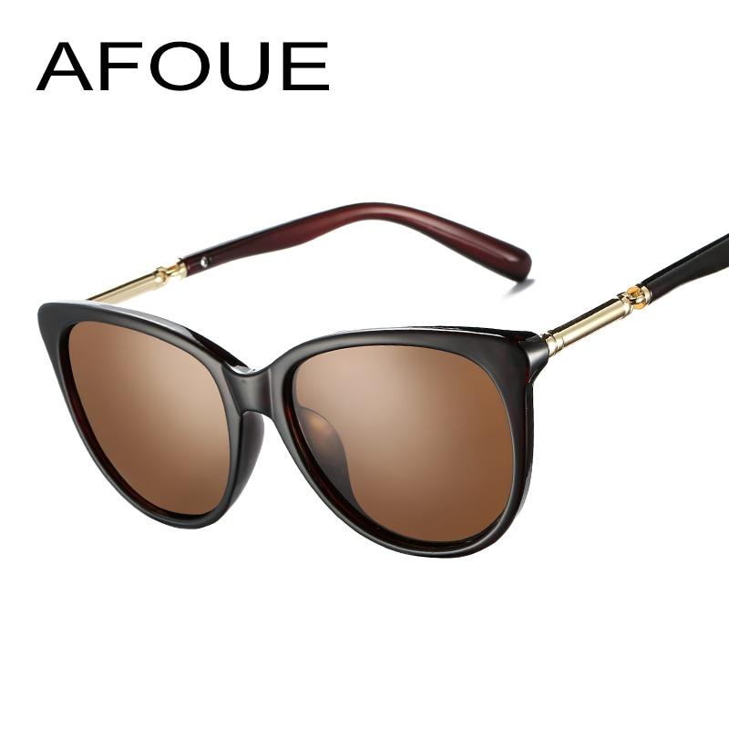 AFOUE Brand Unisex Acetate Fishing Sunglasses Men Women Oval Polarized Sun Glasses Retro Metal Eyewear Driving Oculos de sol