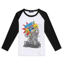 New Arrival Baby Boy T Shirt Boys Long Sleeve Tops Fashion Cotton O-Neck Kids T-Shirt Robot Printing Tee Shirt Enfant Garcon cotton notch neck long sleeve t shirt