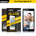 imuca Brand For Sony Xperia Z L36H L36i c6603 c660x Yuga Tempered Glass Screen Protector  For Sony Xperia Z L36H Protective Fil
