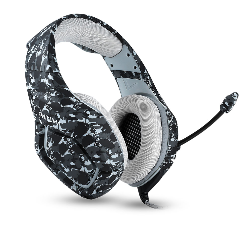 ONIKUMA K1 PS4 Gaming Headset with Mic Casque Camouflage Noise-cancelling Headphones for PC Cell Phone New Xbox One Laptop (3)