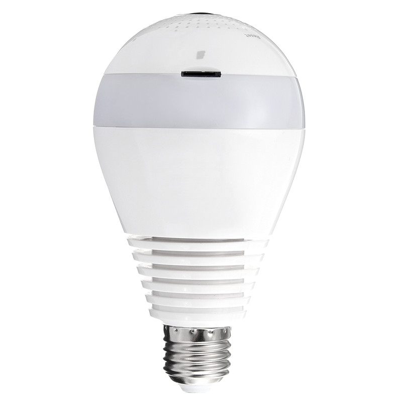 1080 P 360 degrés sans fil IR caméra ampoule lumière E27 Fisheye maison intelligente CCTV sécurité à domicile WiFi caméra panoramique - 2