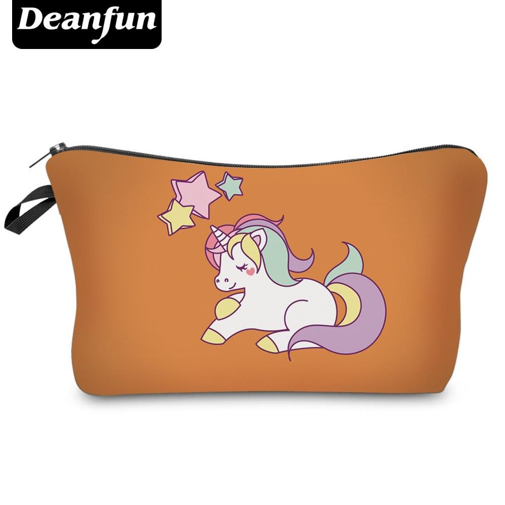Deanfun Fashion Brand Unicorn Cosmetic Bags  New Fashion 3D Printed Women Travel Makeup Case H85