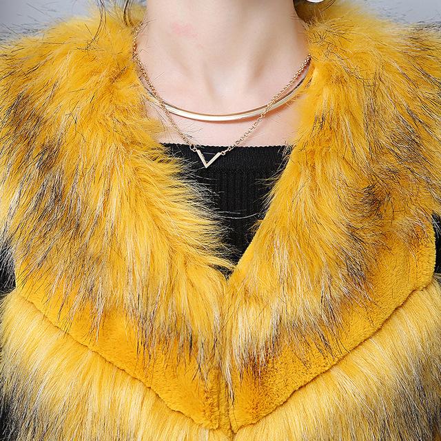 Nerazzurri Ladies Faux Fur Vest Women Sleeveless Hairy Gilet Pink Yellow Short Patchwork fur Jacket Winter Fake Fur Waistcoat