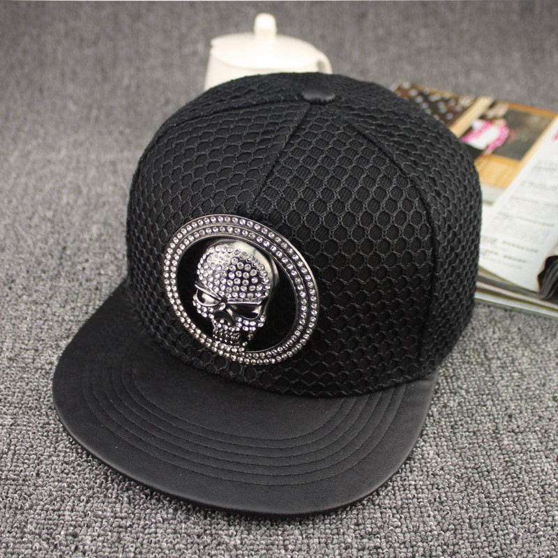 LDSLYJR acrylic Metal skull   Baseball     Cap   hip-hop   cap   Adjustable Snapback Hats for men and women