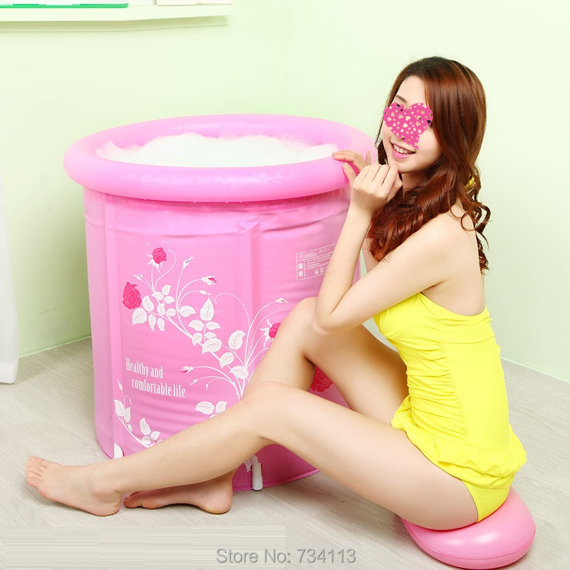 SPA bathtub Portable Inflatable tub folding barrel plastic inflatable adult childrens bath tub thickening tub Relax your body
