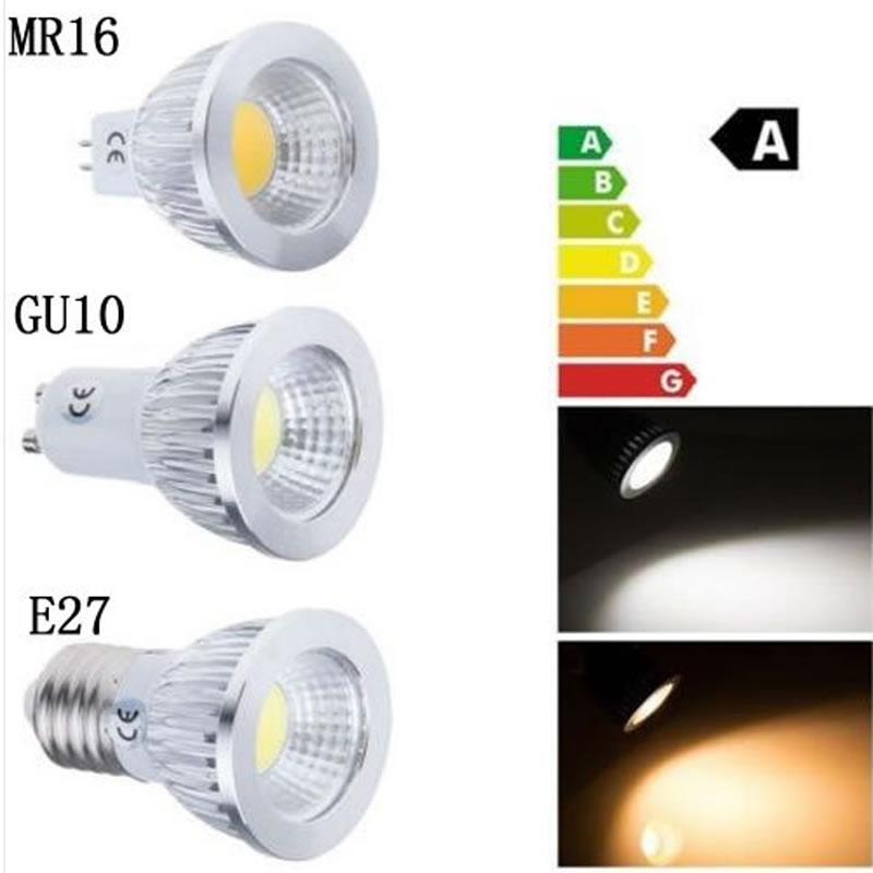 Super bright cob led lamp gu10 mr16 lampada led bulb e27 for Lampada led gu10