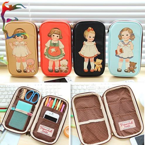 Wholesale 12pcs/lot Character Girl Doll Cosmetic Case Pen Tools Storage  Coin Zipper Purses Phone CasePU Leather Bag Holder In Cosmetic Bags U0026 Cases  From ...
