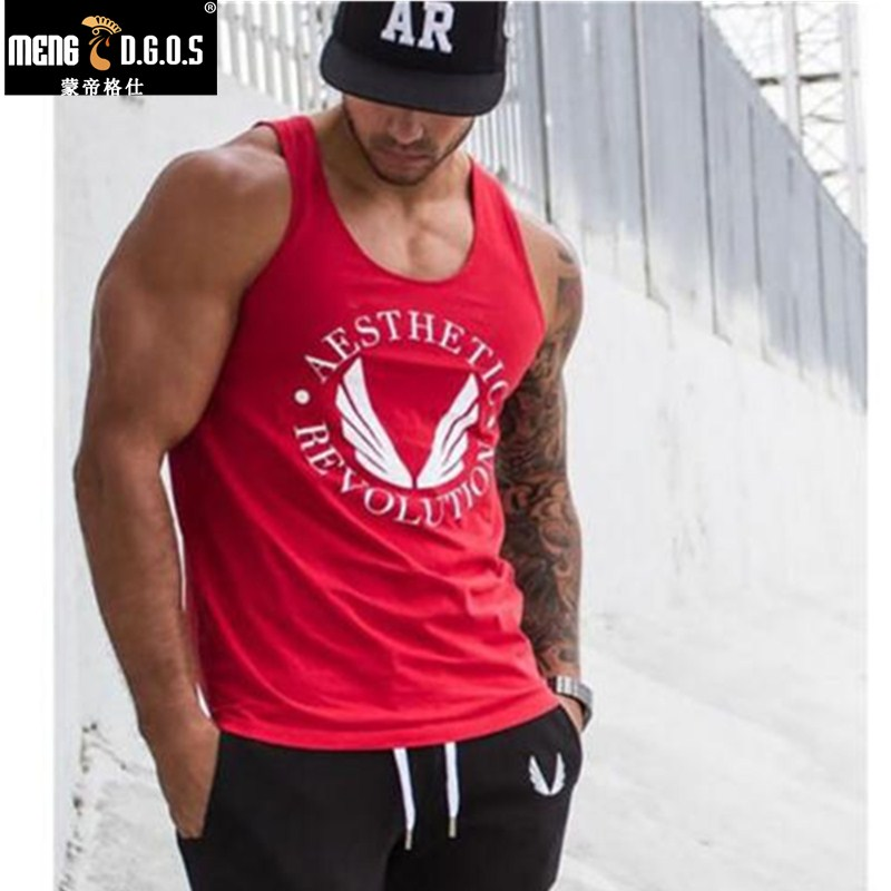 Golds Stringer   Tank     Top   Men Bodybuilding Clothing and Fitness Mens Sleeveless Shirt fitness Vests Cotton Singlets Muscle   Tops