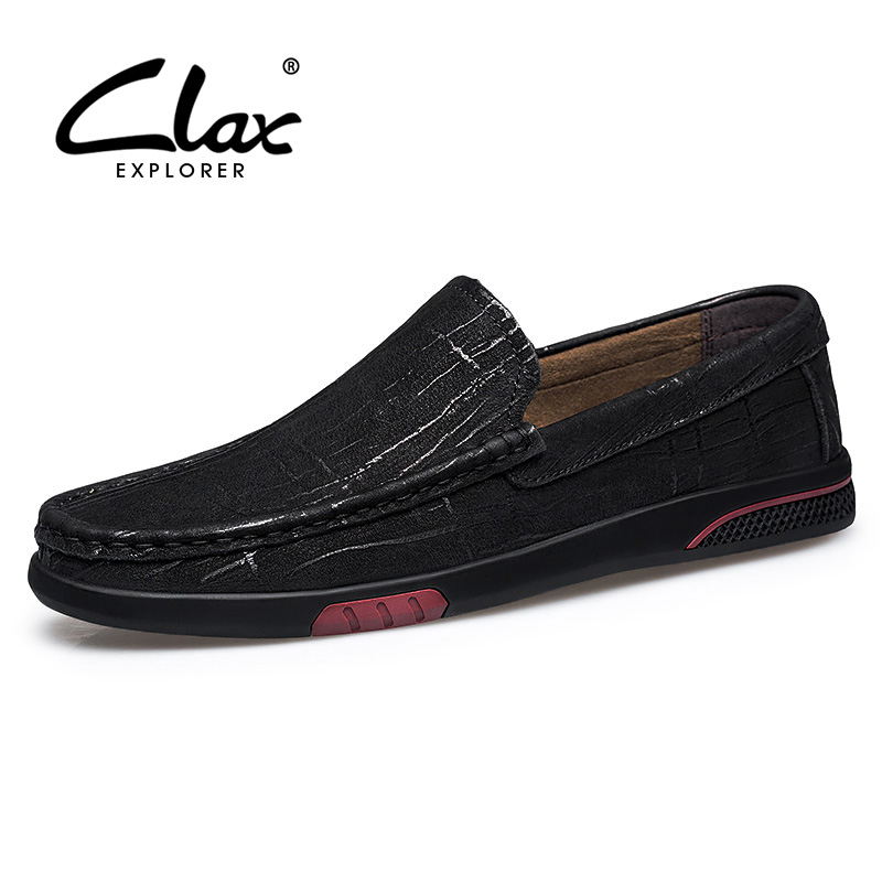 CLAX Man Moccasins Genuine Leather 2019 Summer Mens Leather Shoes Slipons Loafers Designer luxury BrandCLAX Man Moccasins Genuine Leather 2019 Summer Mens Leather Shoes Slipons Loafers Designer luxury Brand