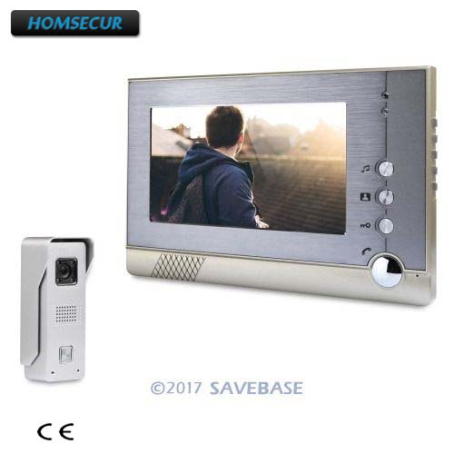 HOMSECUR 1V1 Color 7 Hands-free Video Security Door Phone with IR Night Vision for Home Security
