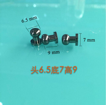 6.5 mm Head, 9mm Height mini Button Gunmetal Purse Studs  Leather Screwback Rivet for DIY Craft 100sets/lot