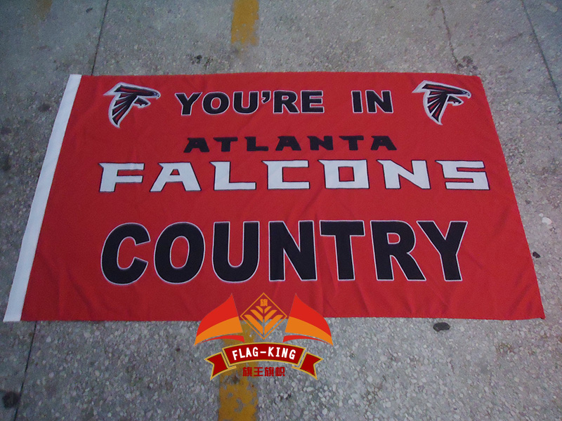 You are in Atlanta Falcons Rugby Helmet club flag,Atlanta Falcons football polyster banner,90*150 CM