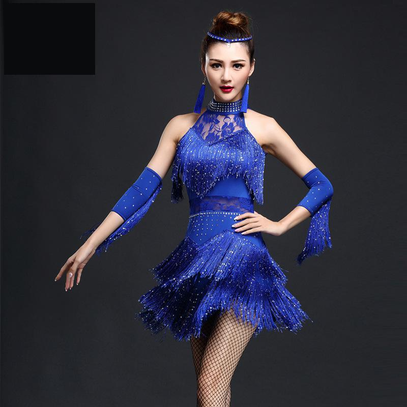 New Design Latin Dance Dress Women/girls/lady New Sexy Fringe Salsa/ballroom/tango/cha Cha/rumba/samba/latin Dresses For Dancing