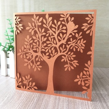 100pcs/lot Laser Cut Carved Pattern Invitation Card Romantic Wedding & Engagement Decorations Greeting Gift Card