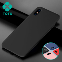 TOTU Ultra Slim Thin Luxury Liquid Silicone Rubber Skin Touch Shockproof Soft Case Cover Shell For
