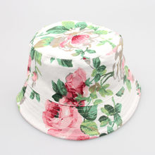 Toddler Baby Kids Boys Girls Floral Pattern Bucket Hats Sun Helmet Cap baby girl headbands tokababy girl hair accessories(China)