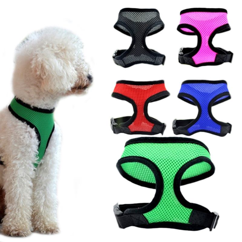 Hoomall Dog Harness Mesh Chest Dog Harness Nylon Outdoor Adjustable Harnesses For Small Medium Dog Leds Pet Accessories 1pc