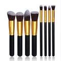 Profesional 8 unids Brochas de Herramientas set de Pintura Del Artista de Maquillaje Fundación Cosmética brocha para Polvos Sombra de Ojos Delineador de Labios