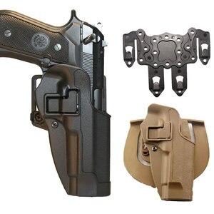 Черный загар CQC тактический боевой M9 92 96 кобура страйкбола пистолет Serpa журнал кобуры поясной ремень пистолет кобура