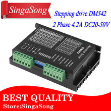 DM542 Stepper Motor Controller 2-phase Digital Stepper Motor Driver 18-48 VDC Max. 4.2A for 57 86 Series Motor.(China)