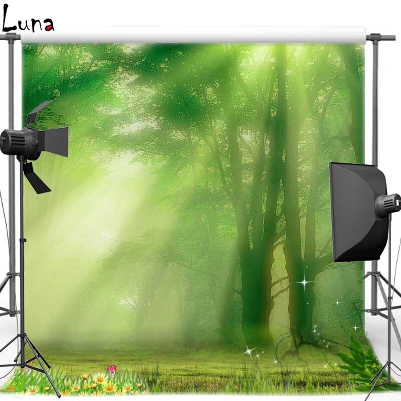 где купить  Vinyl Cloth Photography Backdrops Sunshine Forest Floral backgrounds for photo studio  Free shipping F1048  дешево