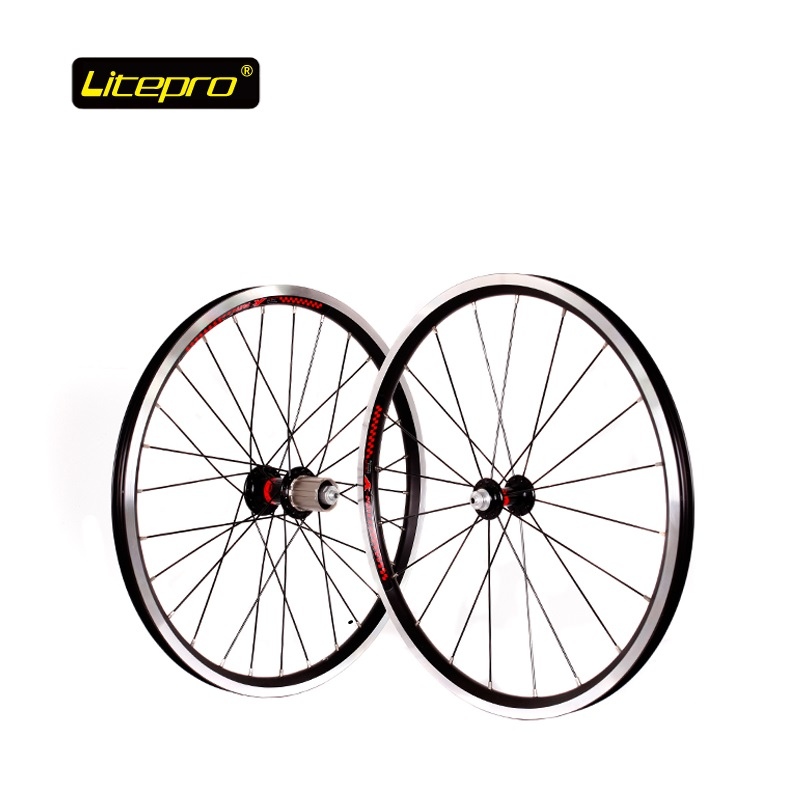 Folding Bike V Brake 20inch 406 <font><b>Wheel</b></font> set <font><b>BMX</b></font> Road Bicycle Wheelset 2 Bearing 74mm 130mm Hub With Quick release Tyre Cushion image
