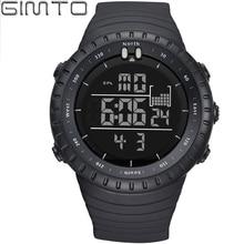 Hombres de la manera LED Digital Relojes Deportivos GIMTO S Choque Reloj de Buceo Militar Hombres A Prueba de agua Al Aire Libre relojes de Pulsera Relogio masculino