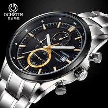 OCHSTIN Men's Watches Fashion Luminous Quartz Watch Stainless Steel Sport Watch Men's Business Watch Relogio Masculino