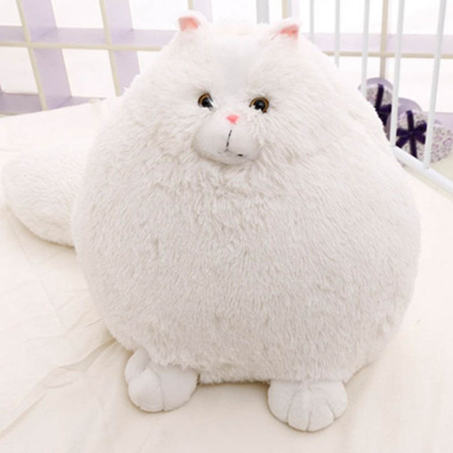 Fun Plush Fluffy Cats Persian Cat Toys Pembroke Pillow Soft Stuffed