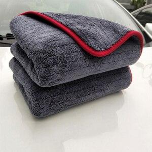 Image 2 - Полотенце из микрофибры 900gsm 90х60 см, тряпочка для автомойки, детализация инструмента для очистки автомобиля, сушильное полотенце, толстое полированное полотенце, супер впитывающее полотенце