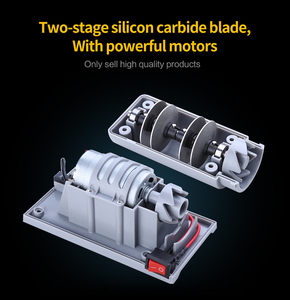 Image 3 - Cuchillo de estilo XYj afilador eléctrico de diamante y cerámica, afilador de cuchillos de cocina, amoladora de 2 etapas, afilador de cerámica con enchufe europeo