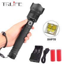 80000 Lumens XLamp XHP70 Powerful Flashlight USB Zoom XHP50 LED Torch 18650 / 26650 Rechargeable Battery Hunting Tactical Light xhp70 powerful led flashlight tactical zoom torch flashlight rechargeable lantern cree xhp70 10000lm camping hunting lamp 18650