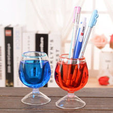 Valentine's Day Gift Crystal Glass Cup Oil Hourglass Liquid Cups Ornaments Goblet Flower Pen Holder Wine glasses Decoration