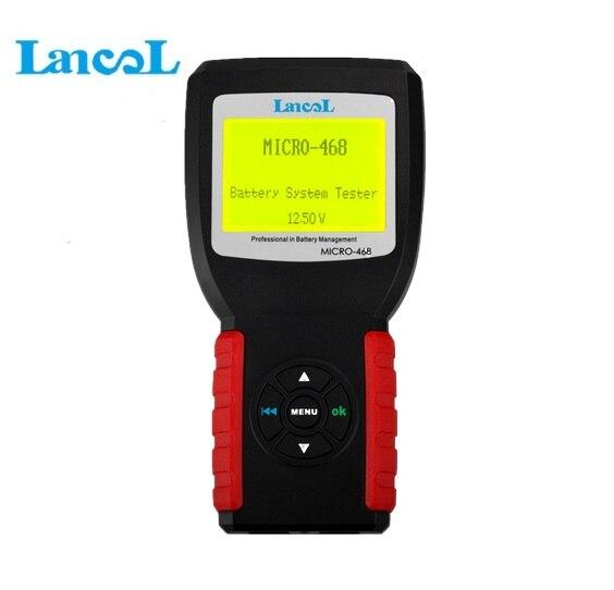 Lancol MICRO-468 автомобильной Батарея анализатор тестер проводимости Портативный 12 В/24 В Авто Цифровой CCA Батарея измерительный прибор