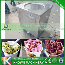 Single pan fry ice cream machine / ice cream roller for sale 45cm diameter