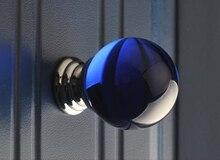 10PCS/LOT Kitchen Cabient Door Knob Blue Crystal (D: 30MM)