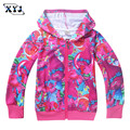 2017 Trolls Sweatshirt For Girls Jacket Coat Children Zipper Sweatshirt Full Printing Bobby Outwear Kids Casual Jacket For Baby