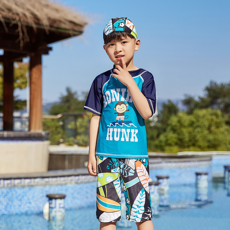 Children's Swimsuit Kids Boy Kid's Swimsuits Baby Bathing Suits Clothing Clothes For Bikini Children Split Boys Sports Animal
