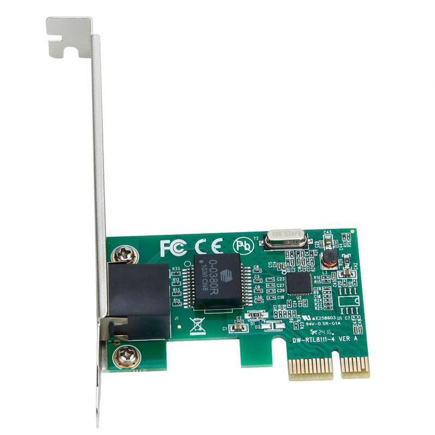 Pcie Gigabit Ethernet LAN PCI Express PCI-e RJ45 rj-45 Pengontrol Jaringan riser Adapter kartu RTL8111E riser