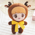 [PCMOS] 2017 New 9'' KPOP EXO XOXO Planet#2 Plush Toy Chocolate Deer w Big Bow LUHAN Stuffed Doll Free Shipping 16052410