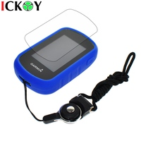 Protect Blue Case Black Detachable Ring Neck Strap Screen Protector For Hiking Handheld GPS Garmin ETrex