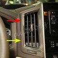 Painel de Ventilação De Ar do Caminhão do carro Guarnição Para Toyota Land Cruiser LC200 2016 2017 Acessórios de Cobertura Interior Cromado