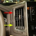Truck Car Dashboard Air Vent Trim Para Toyota Land Cruiser LC200 2016 2017 Cubierta Interior Accesorios de Cromo