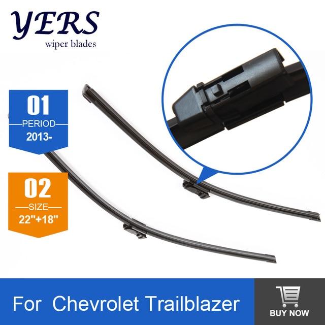 """Limpiaparabrisas para Chevrolet Trailblazer (desde 2013 en adelante) 22 """"+ 18"""" fit top tipo de bloqueo limpiaparabrisas armas sólo HY-F12"""