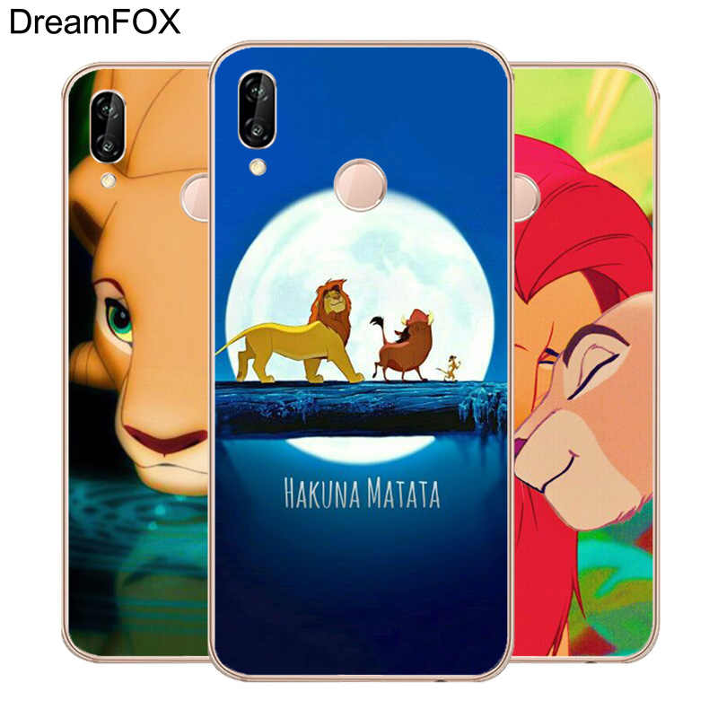 L201 Lion King Soft TPU Silicone Case Cover For Huawei P8 P9 P10 P20 P30 Lite Pro P Smart Plus 2017 2019