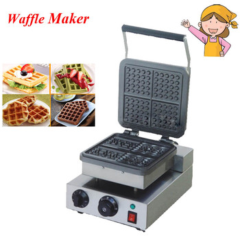 Electric Waffle Maker 220V New Baker Plaid Cake Furnace Heating Machine Waffle Maker FY-218 1ps fy 2205 rotating waffle electric heating waffle single head stainless steel waffle mcmuffins machine