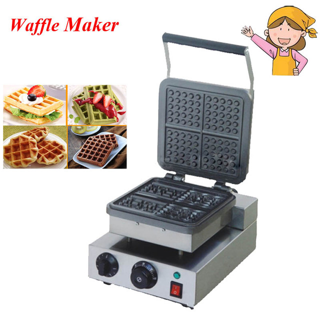 Electric Waffle Maker 220V New Baker Plaid Cake Furnace Heating Machine Waffle Maker FY-218