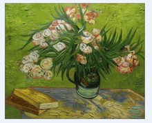 Majolica Jar with Branches of Oleander by Vincent Van Gogh Handpainted