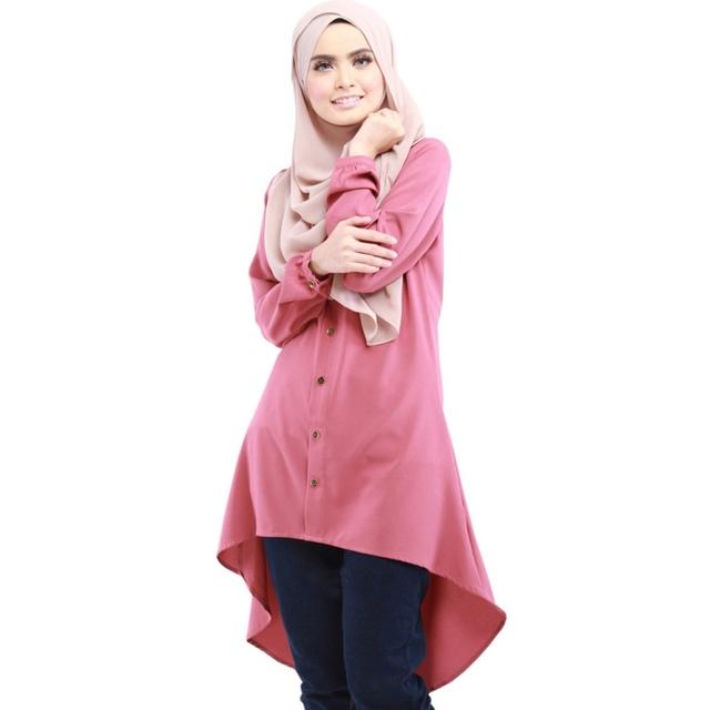 Características étnicas de Las Mujeres Camisa Larga Tops Superiores Islimic Caftán Desgaste Camisa de Ropa Musulmana de Oriente medio
